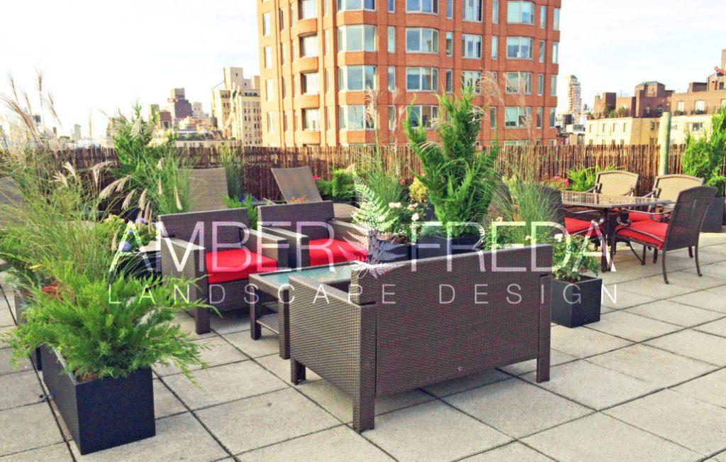 Community Roof Garden On The Upper East Side Amber Freda Landscape Design