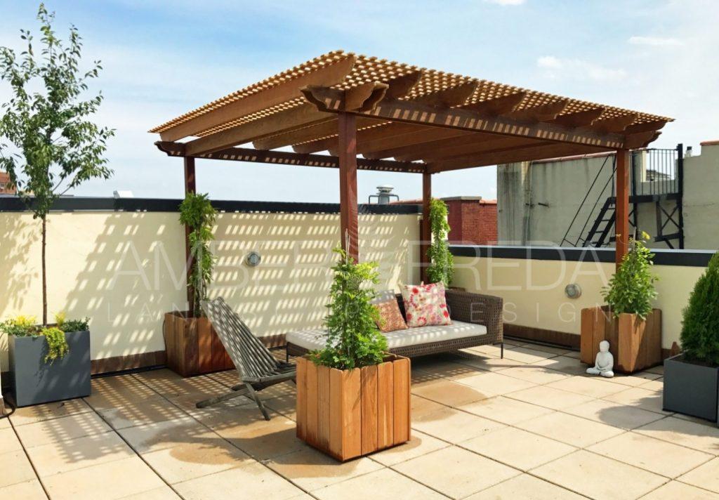 Harlem Rooftop Garden And Pergola Amber Freda Landscape Design