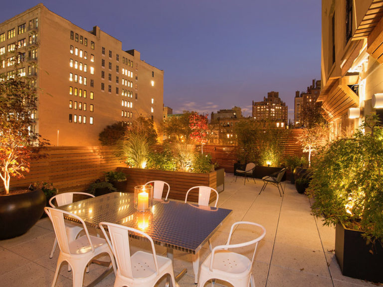 outdoor roof deck lighting nyc