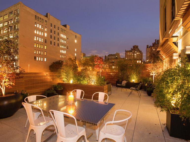 outdoor roof deck lighting nyc