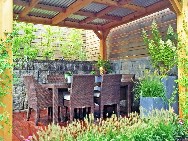 tin roof pergola nyc