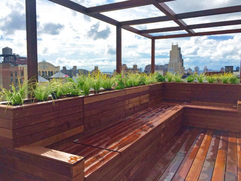 flatiron manhattan rooftop garden pergola