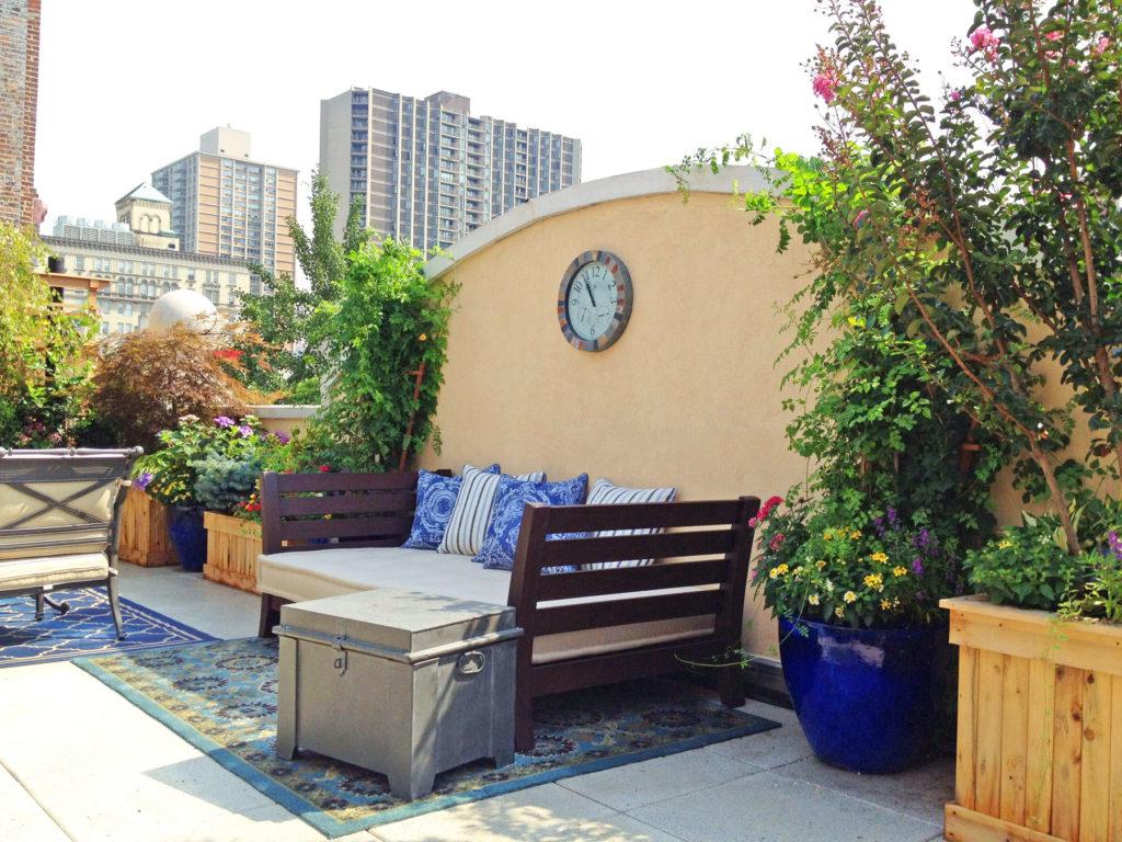 romantic roof garden terrace in brooklyn heights nyc