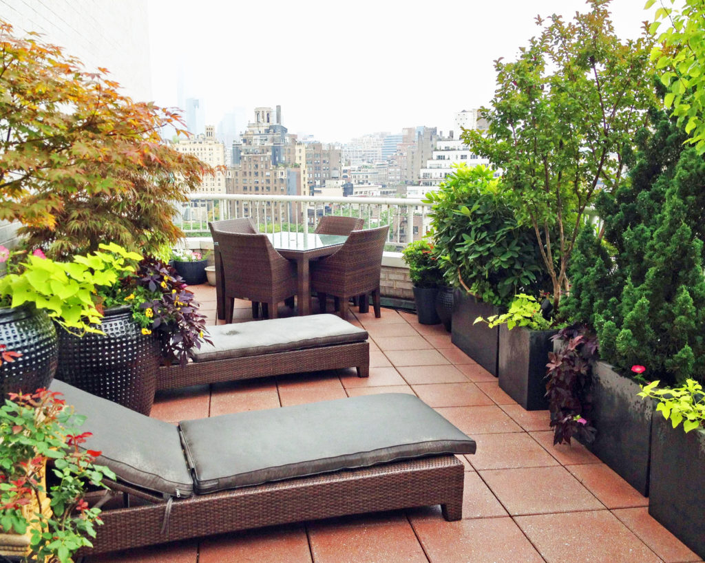 west village contemporary roof garden terrace nyc