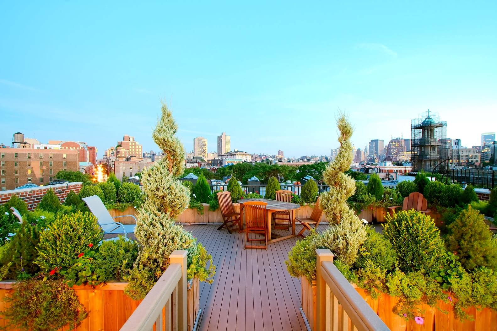 Brooklyn Rooftop Garden & Pergola